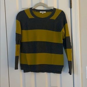 Grey and mustard striped Madewell sweater